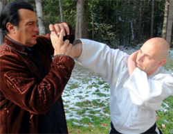Steven Seagal Shihan and Greg Sinclair Sensei